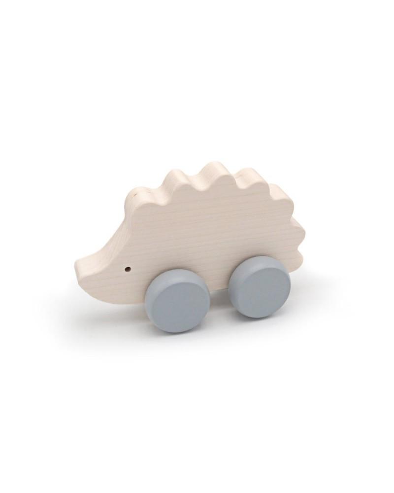 BRIKI VROUM VROUM - JOUET À POUSSER ANIMAL EN BOIS - HERISSON - L'interprète Concept Store
