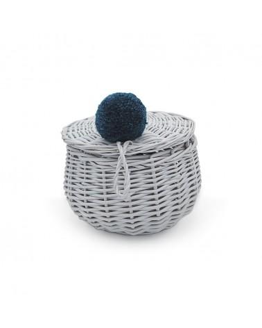 BRIKI VROUM VROUM - PETIT PANIER ROTIN - GRIS - L'interprète Concept Store