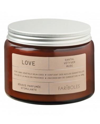 BOUGIE - FARIBOLES - LOVE 400G  - L'interprète Concept Store