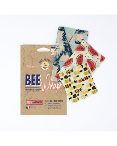 EMBALLAGE ALIMENTAIRE BEEWRAP - ANOTHERWAY -PACK DE 3 (S-M-L) - ORIGINAL
